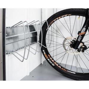 """Fahrradständer """"bikeHolder"""" für Gerätehäuser und HighBoard"""